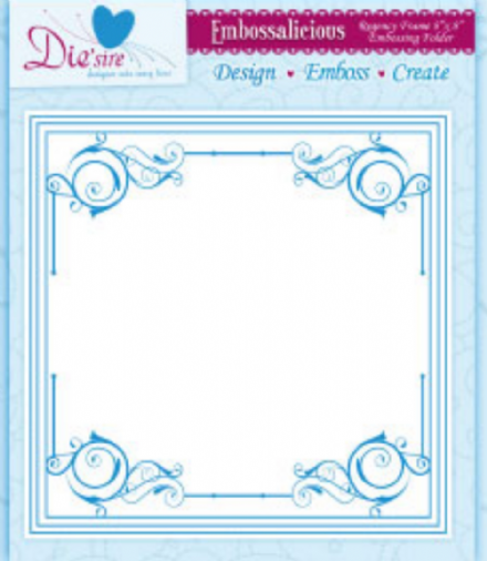 REGENCY FRAME ~ 8x8 ~ CRAFTERS COMPANION ~ EMBOSSALICIOUS